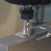 Close-up of one of our tooling machines in action